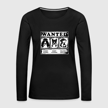 Wanted dog bulldog - Women's Premium Longsleeve Shirt