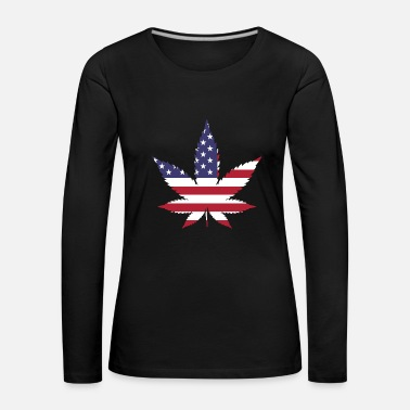 American American Weed - T-shirt manches longues Premium Femme
