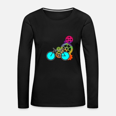 Bicycle Colorful Gears Gift Sport Gift Idea - Women's Premium Longsleeve Shirt