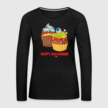 Muffins Happy Cupcakes Halloween - T-shirt manches longues Premium Femme
