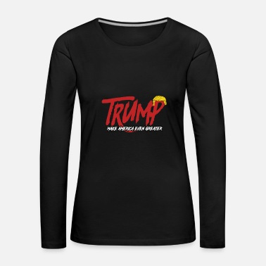 Satir Trump satires - Långärmad premium-T-shirt dam