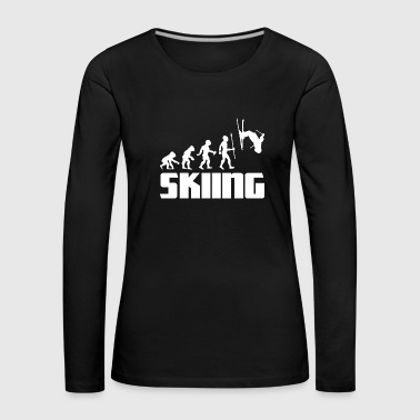 Snowboard Evolution skier skiing winter sport snow - Women's Premium Longsleeve Shirt