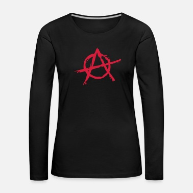 Anarchy Anarchy symbol chaos rebel revolution punk fighter - Women's Premium Longsleeve Shirt