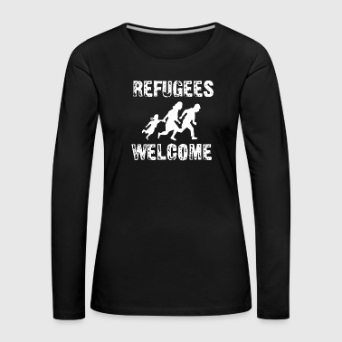 Refugees welcome - Women's Premium Longsleeve Shirt