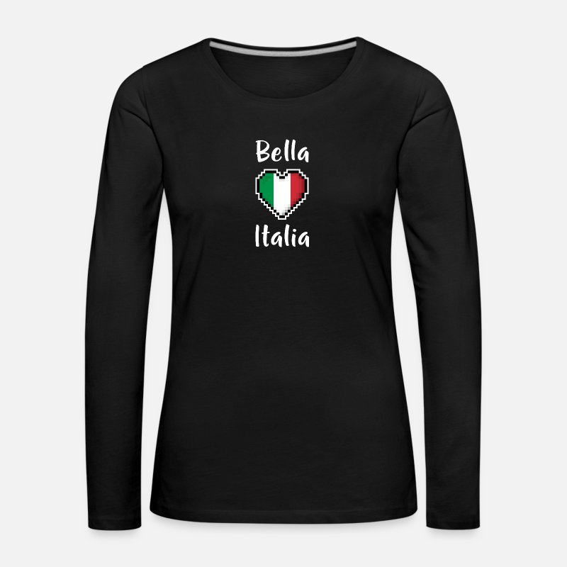 8 Bit Long Sleeve Shirts - Bella Italia - Women's Premium Longsleeve Shirt black
