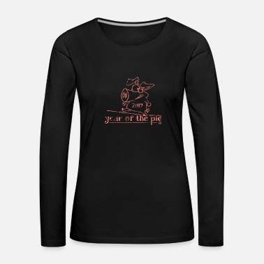 Chinese Sign Year of the pig 2019 Zodiac gift luck - Women's Premium Longsleeve Shirt