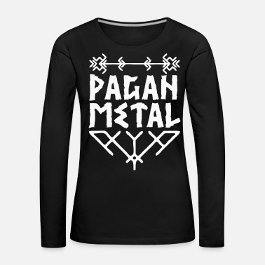 Viking Metal Pagan Metal with Viking knots - Women's Premium Longsleeve Shirt