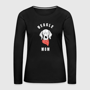 Beagle Mom I Dogs Mom Gift I Cartoon - Women's Premium Longsleeve Shirt