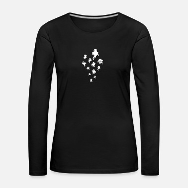 Ghost Halloween ghost haunted poltergeist ghost - Women's Premium Longsleeve Shirt