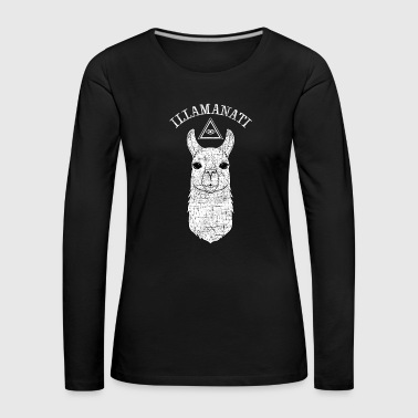 Illamanati | Cool Llama Design with Triangle - T-shirt manches longues Premium Femme