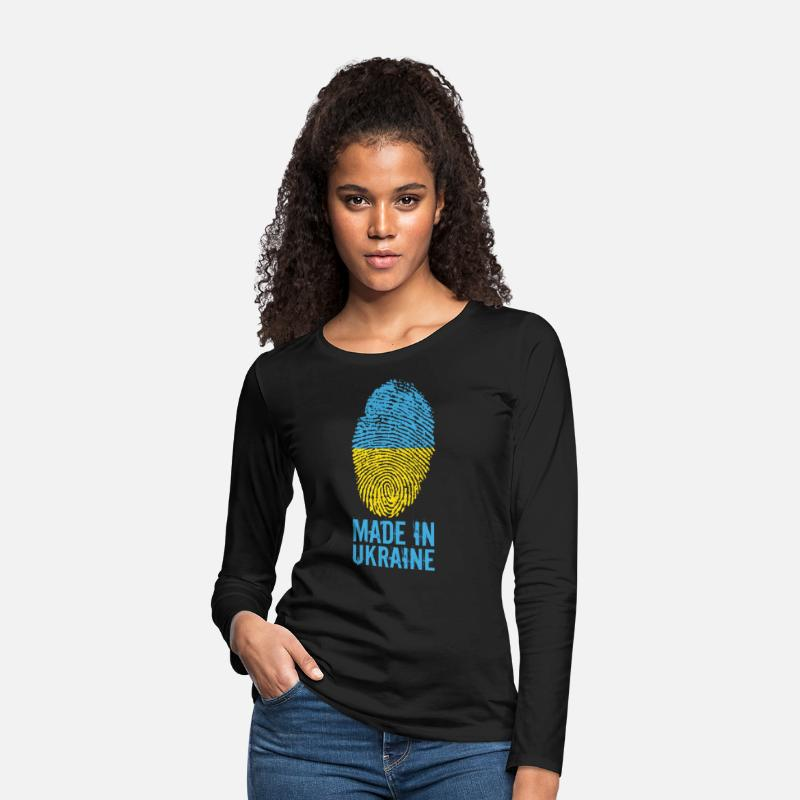 Ukraine Long Sleeve Shirts - Made in Ukraine / Made in Ukraine Україна - Women's Premium Longsleeve Shirt black