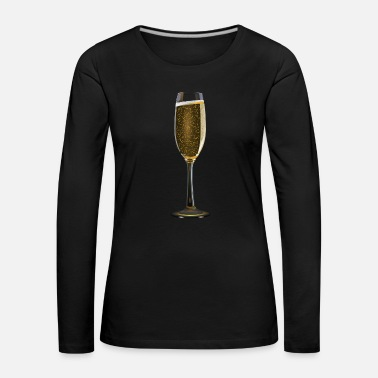 Champagne Glass a glass of champagne - Women's Premium Longsleeve Shirt