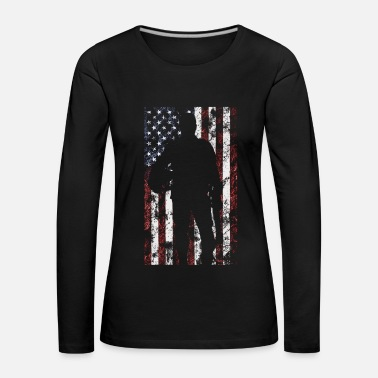 Us Army Veteran soldier America military army - Women's Premium Longsleeve Shirt
