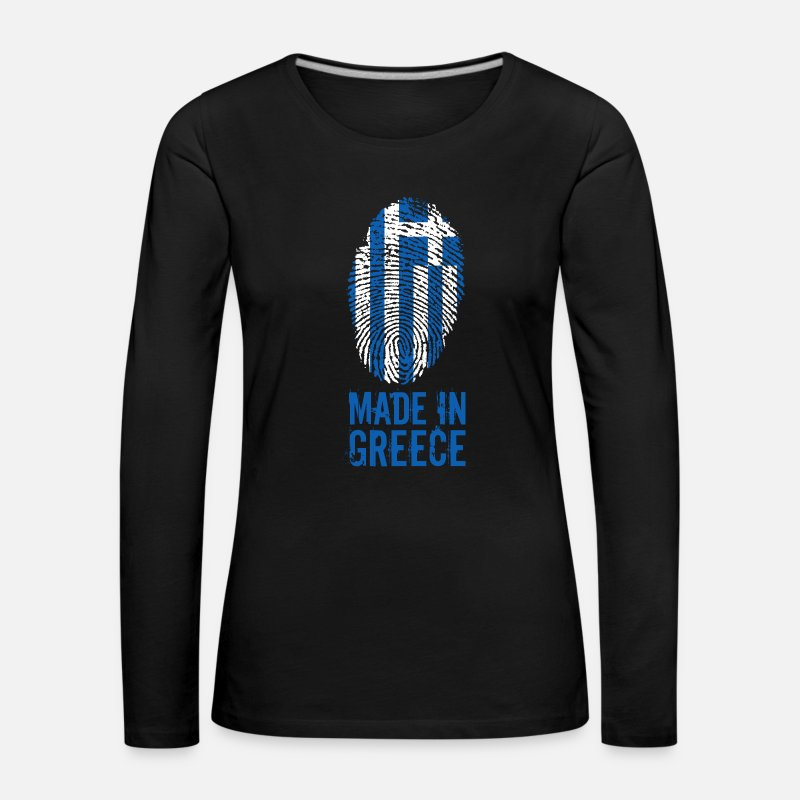 Greece Long Sleeve Shirts - Made in Greece / Made in Greece - Women's Premium Longsleeve Shirt black