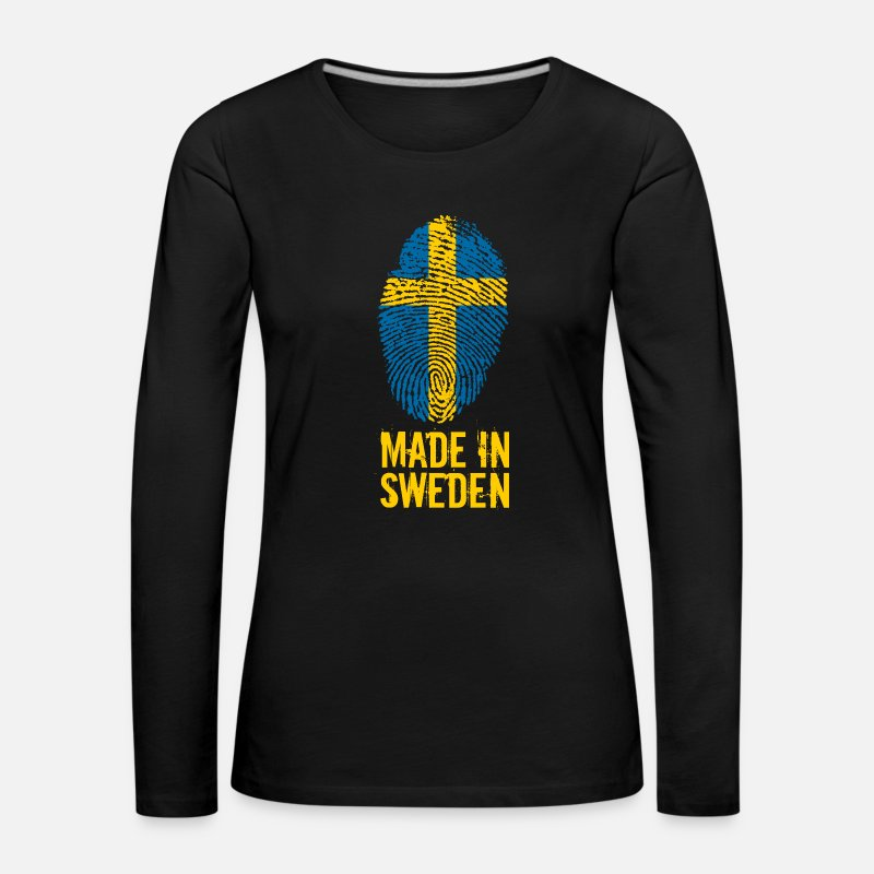 Stockholm Long Sleeve Shirts - Made In Sweden / Sweden / Sverige - Women's Premium Longsleeve Shirt black