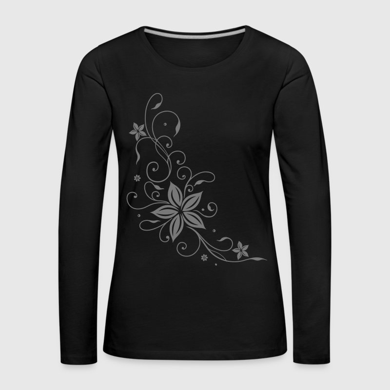 Floral Tribal and Tattoo ornament. - Women's Premium Longsleeve Shirt