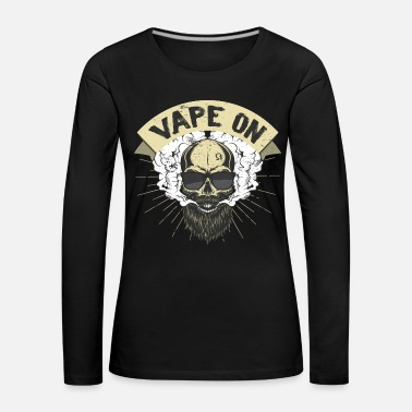 Vape Cloud Chaser - Vaping Bearded Skull - Vape On - Women's Premium Longsleeve Shirt