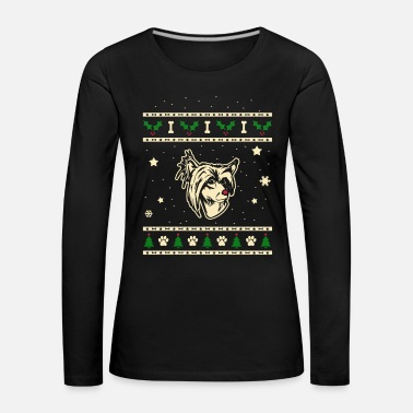Crest Chinese Crested Crested Dog Christmas Gift - Women's Premium Longsleeve Shirt