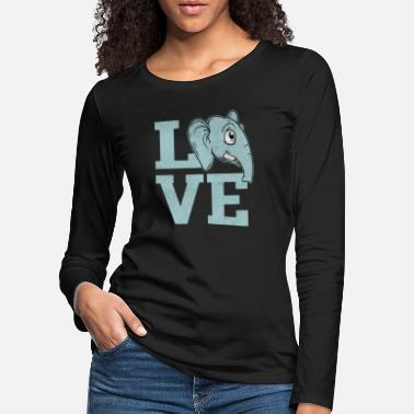 Animal Love Love elephant animals love animal love animal lover - Women's Premium Longsleeve Shirt