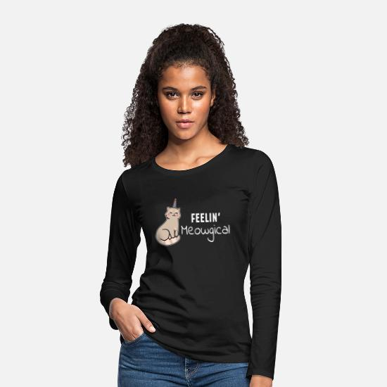 Gift Idea Long Sleeve Shirts - Cat love cat lover kitten Kitty - Women's Premium Longsleeve Shirt black