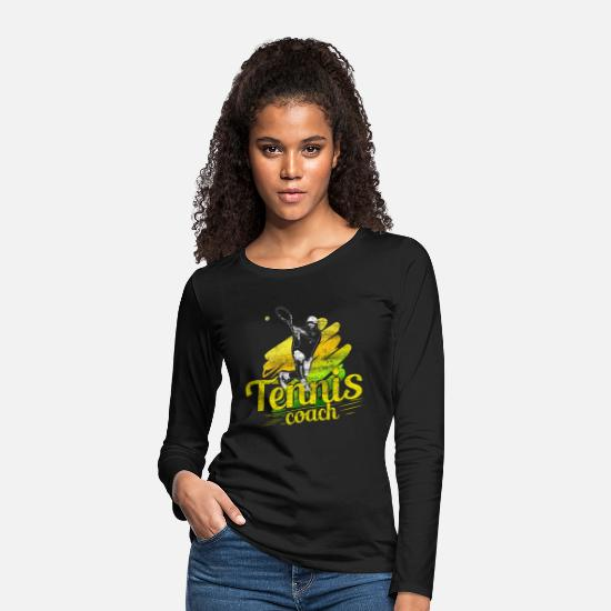 Tennis Match Long sleeve shirts - Tennis tennis teacher gift idea - Women's Premium Longsleeve Shirt black