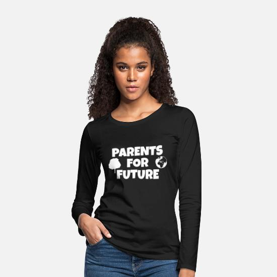 Environmental Protection Long sleeve shirts - parents for future - Women's Premium Longsleeve Shirt black