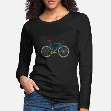 Glass Underwear Bicycle anatomy for bike and cycling lovers - Women's Premium Longsleeve Shirt