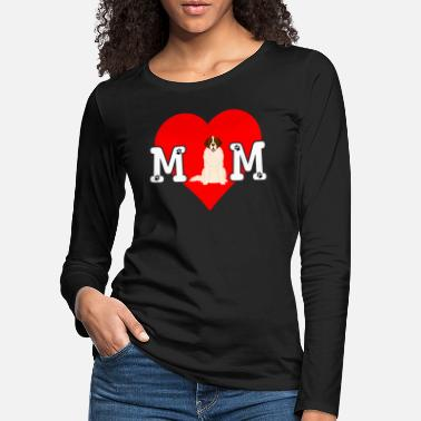 Paw Print Dog Mom Heart Paw Prints Moscow Watch - Women's Premium Longsleeve Shirt