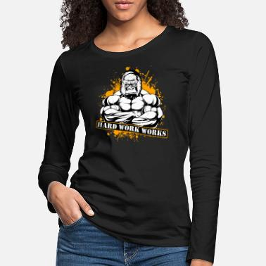 Muskelaufbau Fitness Training Motivation Muskelaufbau Bizeps - Frauen Premium Langarmshirt