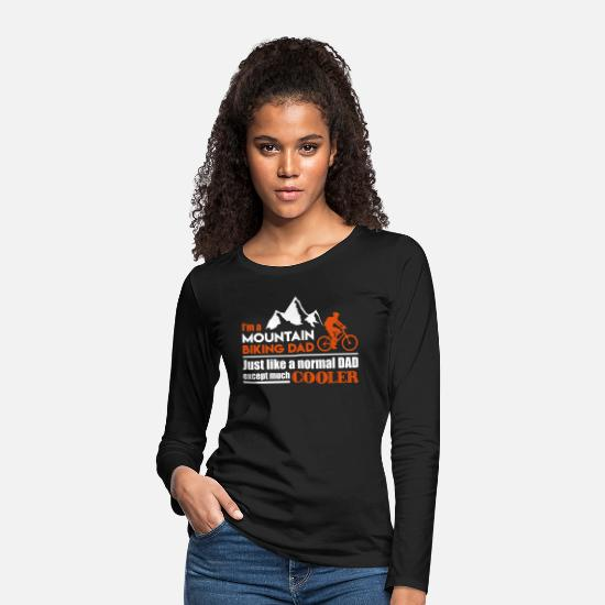 Mountain Long Sleeve Shirts - Mountain biking dad - Women's Premium Longsleeve Shirt black