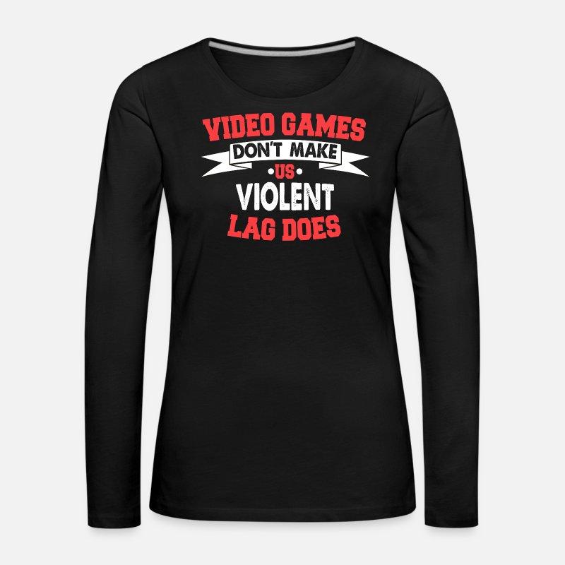 Longues T Premium Manches Femme Vidéo Shirt Jeux Rubis v0mw8nyNO