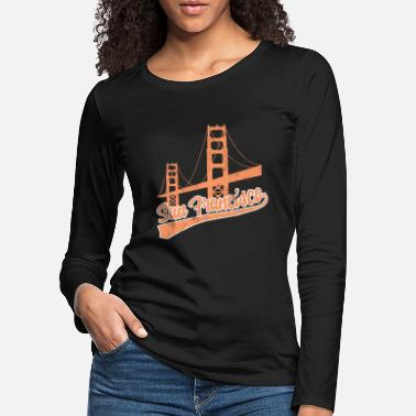 Aupair San Francisco Golden Gate Brigdge United States Aupair - Women's Premium Longsleeve Shirt