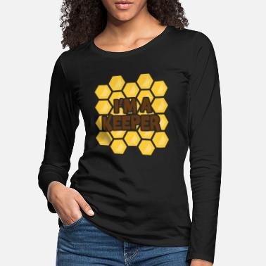 Save The Bees Diseño de apicultura I Im a Keeper against bee - Camiseta de manga larga premium mujer