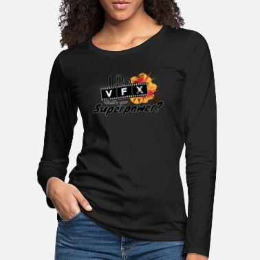 Explosion I Do VFX What's your Superpower? Visual effects - Frauen Premium Langarmshirt