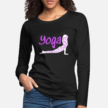 Pose Yoga Pose Spirit Mind Happy w - Frauen Premium Langarmshirt