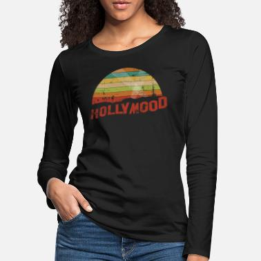 Hollywood HOLLYMOOD Vintage Retro Hollywood Design - Women's Premium Longsleeve Shirt