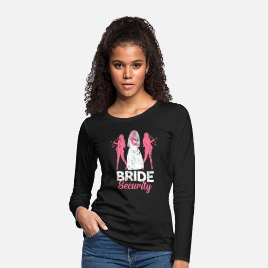 Bride Long sleeve shirts - Team Bride Maid of Honor Marry Marriage Gift - Women's Premium Longsleeve Shirt black