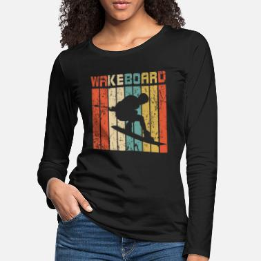 Idea Wakeboard retro gift - Women's Premium Longsleeve Shirt