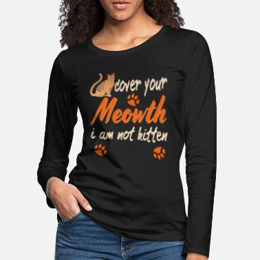 House Tiger Funny cat kitty kitty house tiger - Women's Premium Longsleeve Shirt