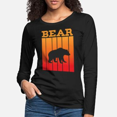 South America Bear shadow play in the sunset - Women's Premium Longsleeve Shirt