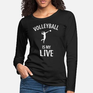 Beachvolley Volleyball sport hold spiller hold gave - Premium langærmet T-Shirt dame