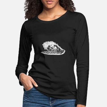 Waving Wave wave - Women's Premium Longsleeve Shirt