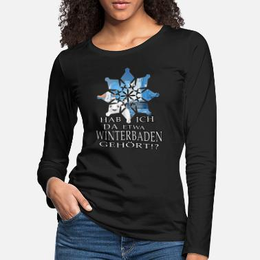 Snow Crystal ice bathing ice bear winterbader motivation snow ice - Women's Premium Longsleeve Shirt