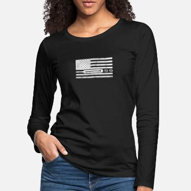 Stars And Stripes Cricket Stars And Stripes - Premium langærmet T-Shirt dame