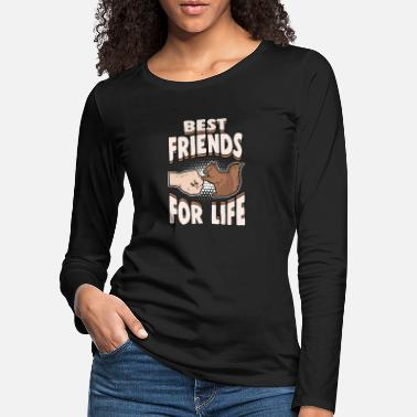 Squirrel Animals Nuts Best Friends for Life - Women's Premium Longsleeve Shirt