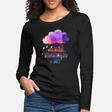 national weatherman's day - T-shirt manches longues premium Femme