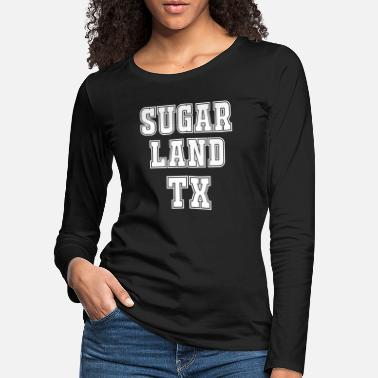 Tennis Sugar Land TX High School College University Font - Women's Premium Longsleeve Shirt
