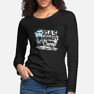 Gas Gas Monkey Garage Blood Sweat Beer - Camiseta de manga larga premium mujer