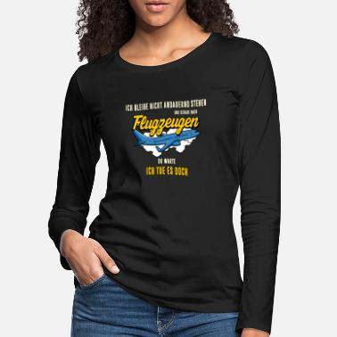 Right View aircraft airplane aviation gift - Women's Premium Longsleeve Shirt