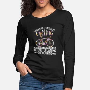 Unicorn Forecast Cycling With No Chance Of House Cleaning - Frauen Premium Langarmshirt